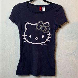 Divided by H&M Hello Kitty Embellished Tee Shirt